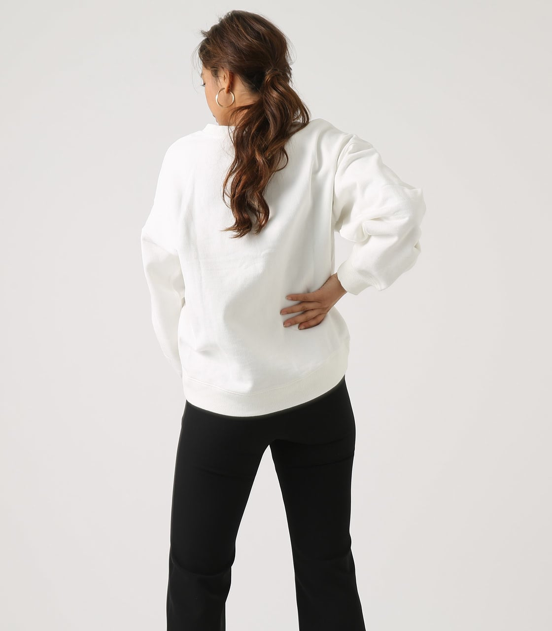 【AZUL BY MOUSSY】SLEEVE TUCK SWEAT TOPS 詳細画像 O/WHT 2