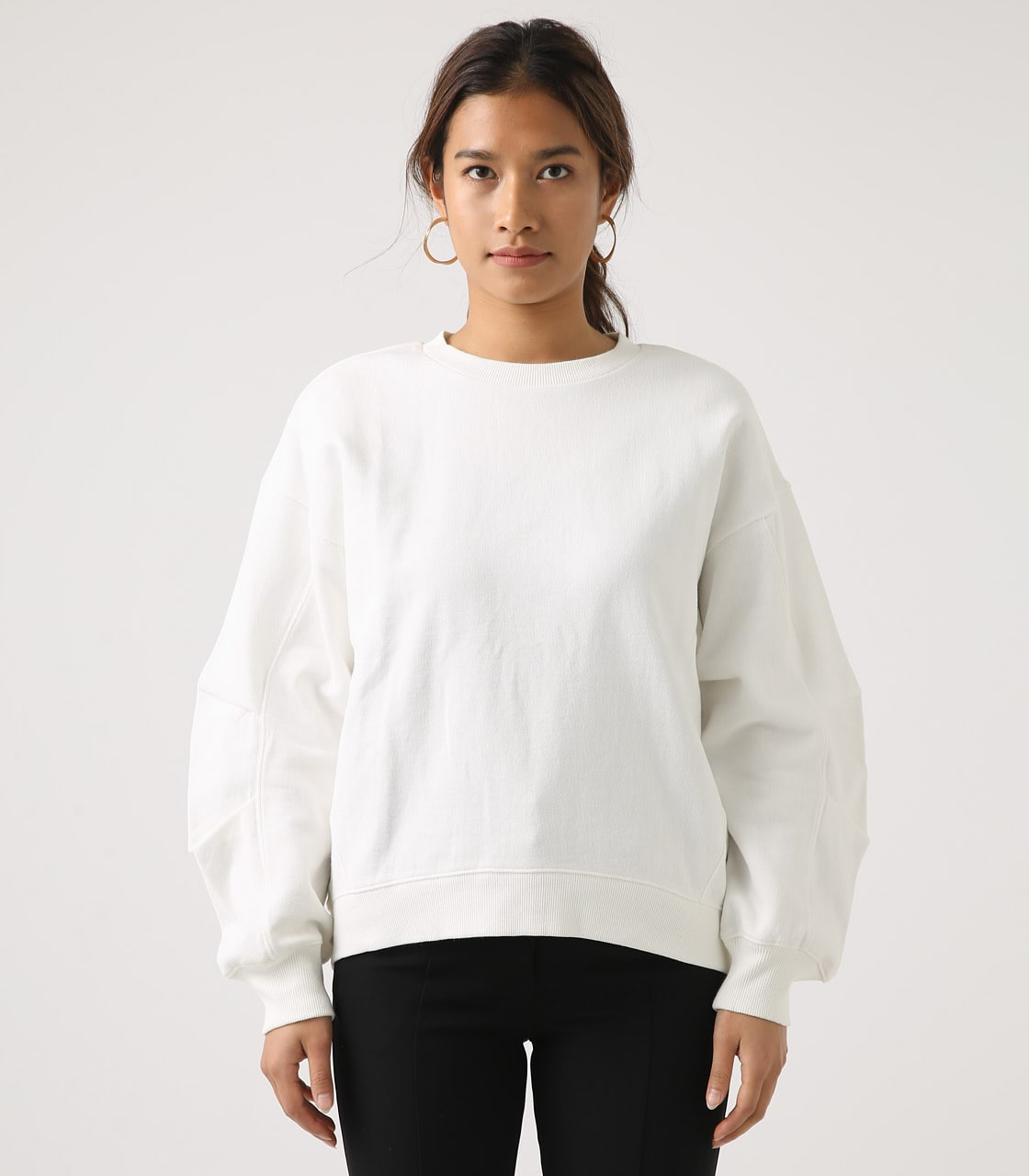 【AZUL BY MOUSSY】SLEEVE TUCK SWEAT TOPS 詳細画像 O/WHT 5