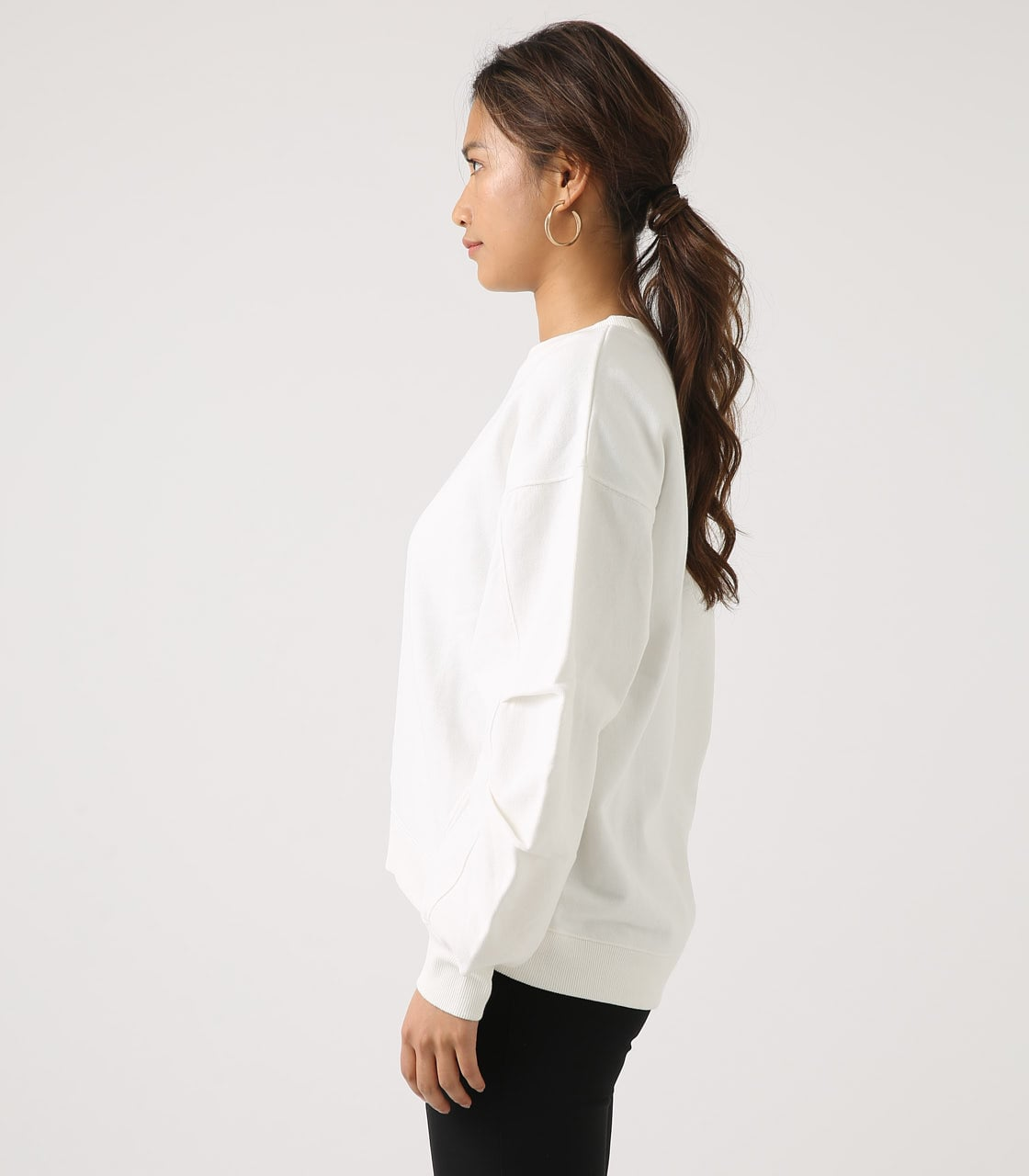 【AZUL BY MOUSSY】SLEEVE TUCK SWEAT TOPS 詳細画像 O/WHT 6