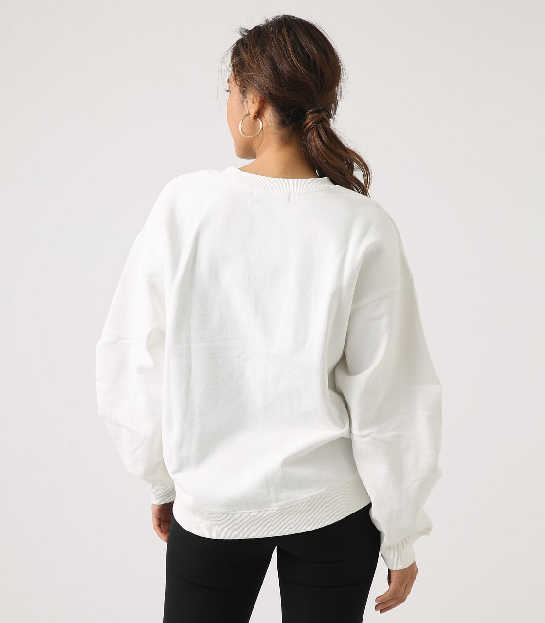 【AZUL BY MOUSSY】SLEEVE TUCK SWEAT TOPS 詳細画像 O/WHT 7