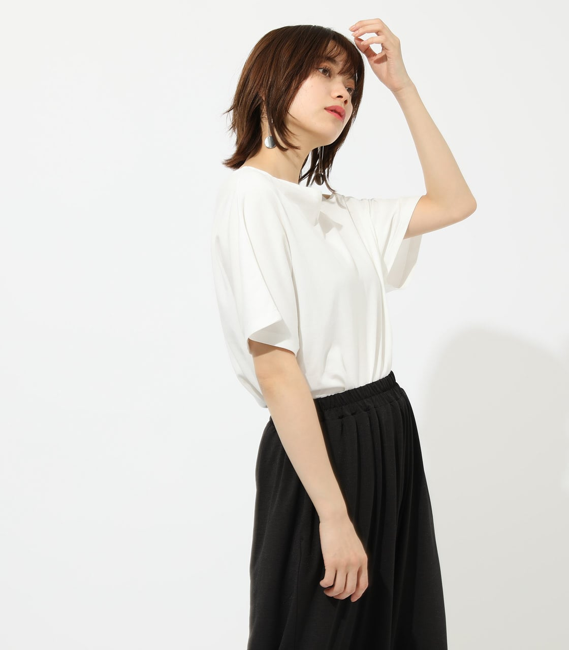 【AZUL BY MOUSSY】ONE SHOULDER CUT TOPS 詳細画像 O/WHT 2