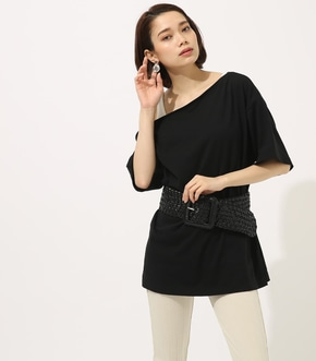 【AZUL BY MOUSSY】ONE SHOULDER LOOSE CUT TOPS