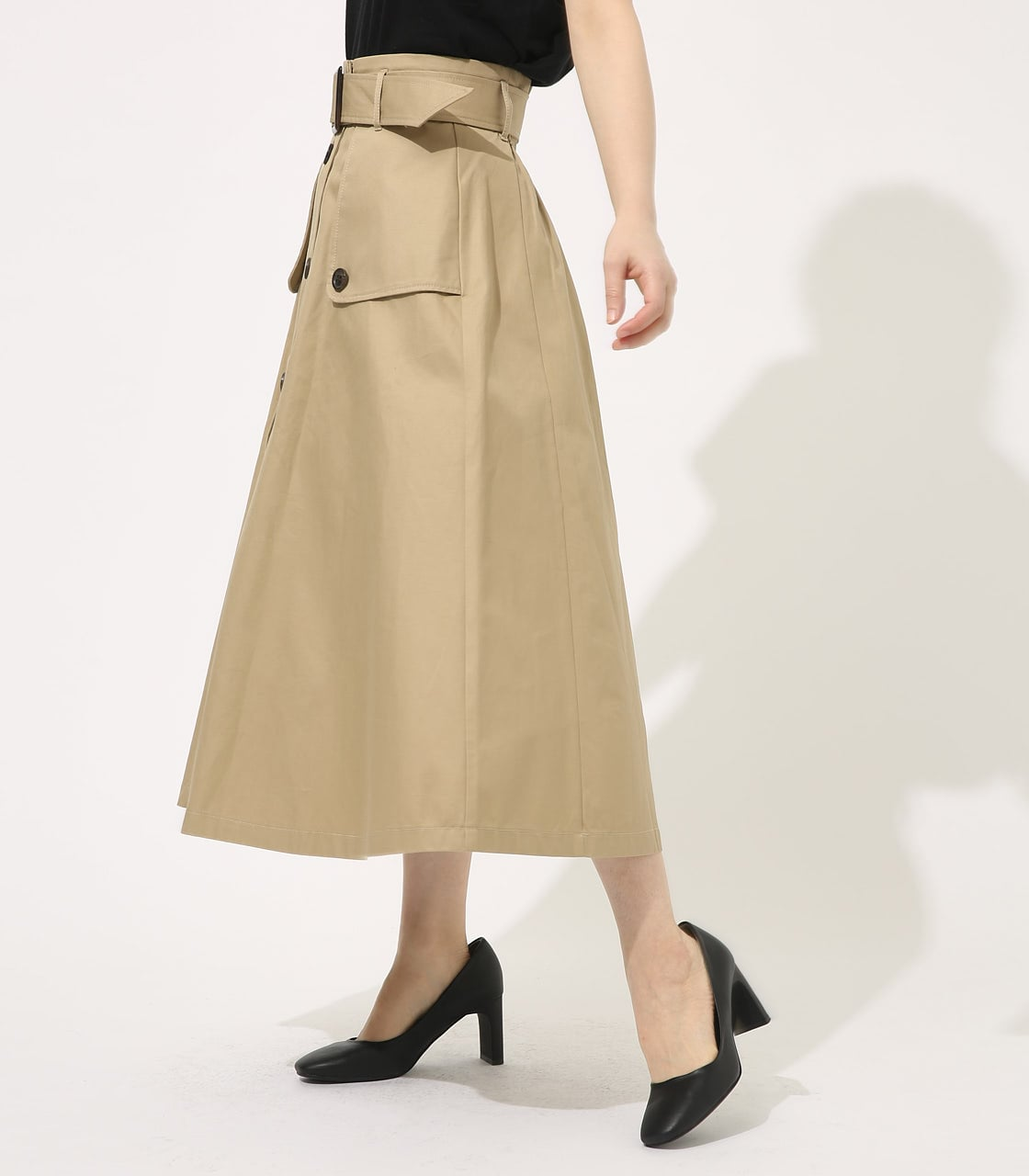 【AZUL BY MOUSSY】TRENCH FLARE SKIRT 詳細画像 BEG 2