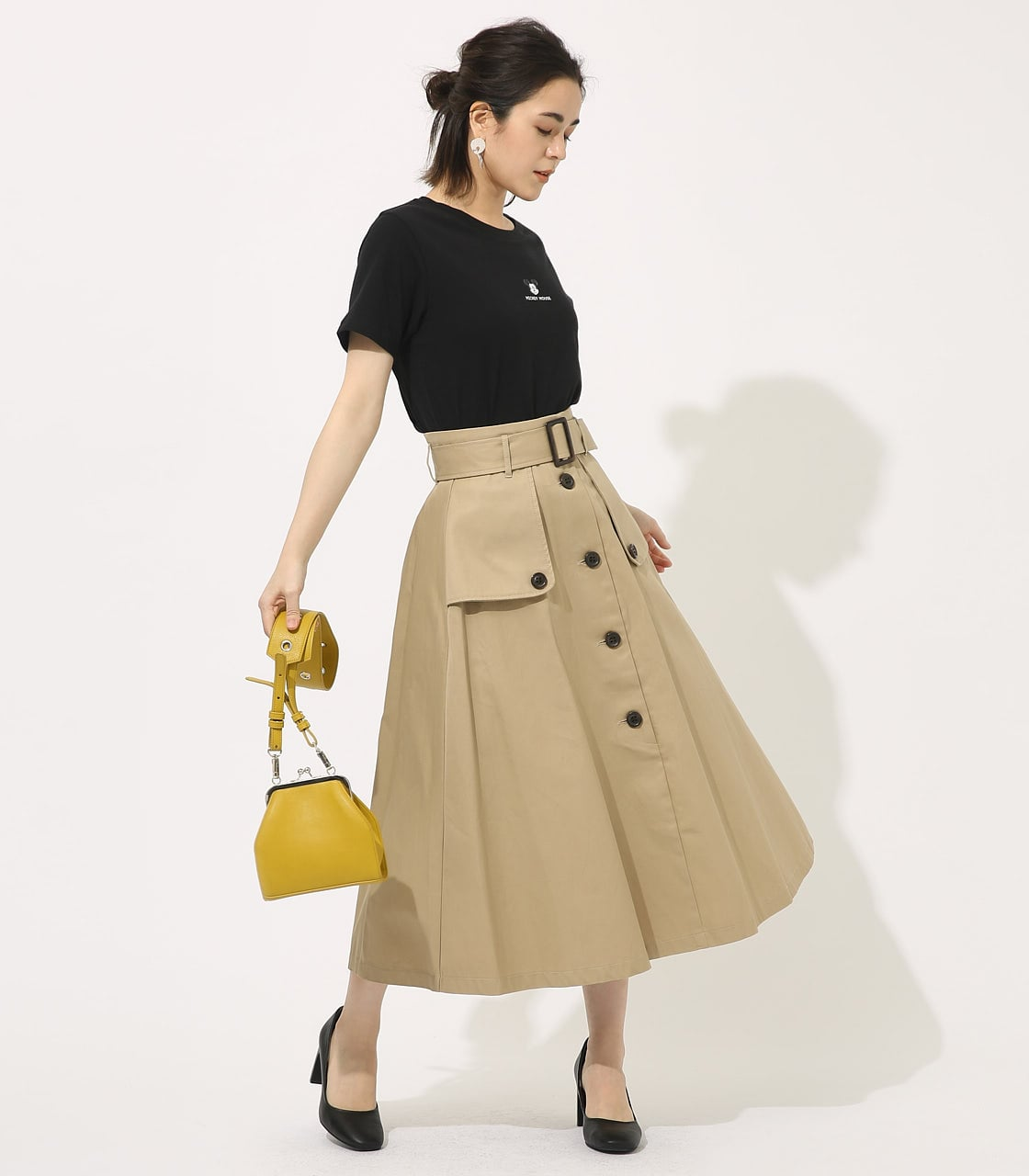 【AZUL BY MOUSSY】TRENCH FLARE SKIRT 詳細画像 BEG 3