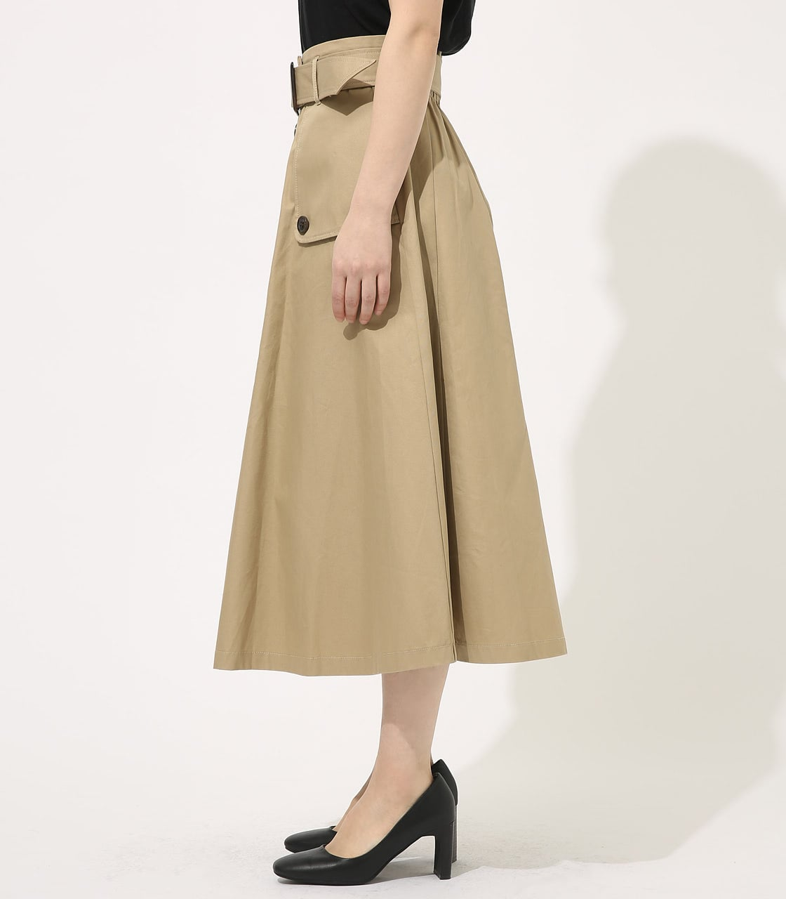 【AZUL BY MOUSSY】TRENCH FLARE SKIRT 詳細画像 BEG 5