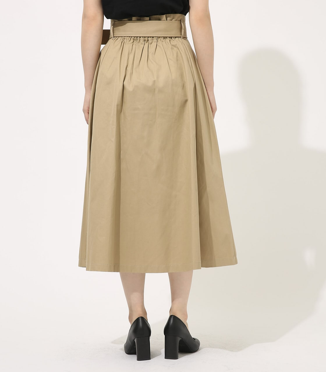 【AZUL BY MOUSSY】TRENCH FLARE SKIRT 詳細画像 BEG 6
