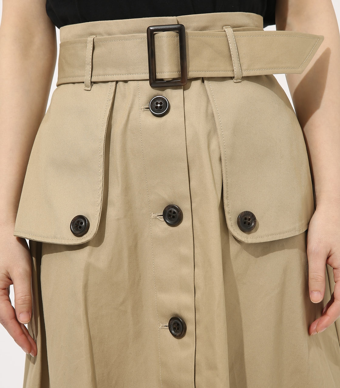 【AZUL BY MOUSSY】TRENCH FLARE SKIRT 詳細画像 BEG 7
