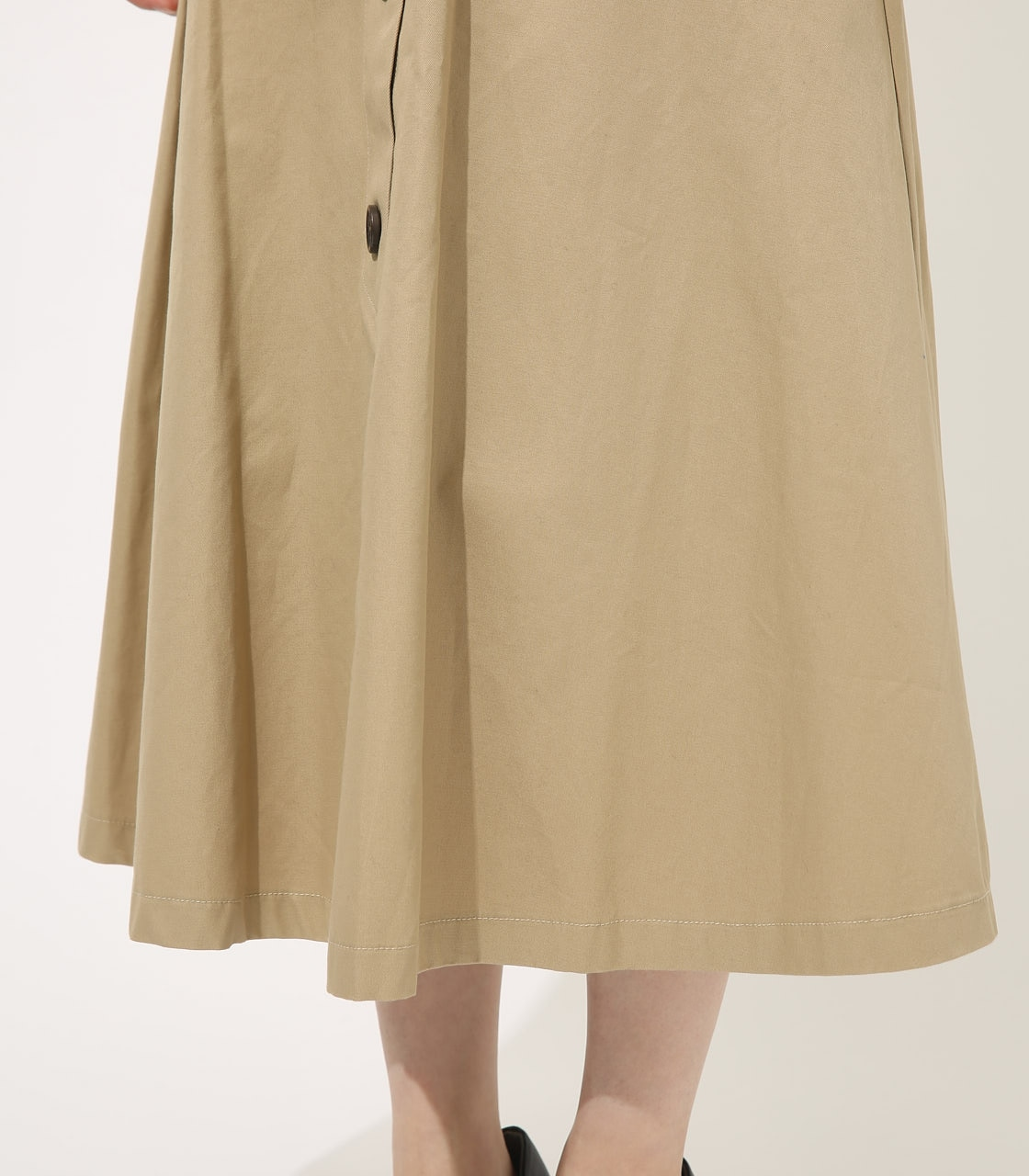【AZUL BY MOUSSY】TRENCH FLARE SKIRT 詳細画像 BEG 9
