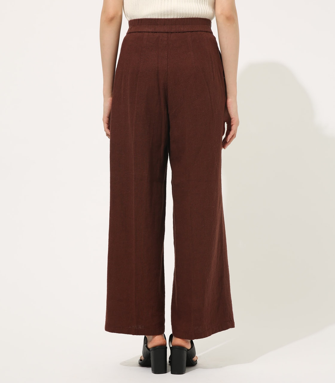 【AZUL BY MOUSSY】COTTON LINEN WIDE PANTS【MOOK50掲載 90131】 詳細画像 BRN 6