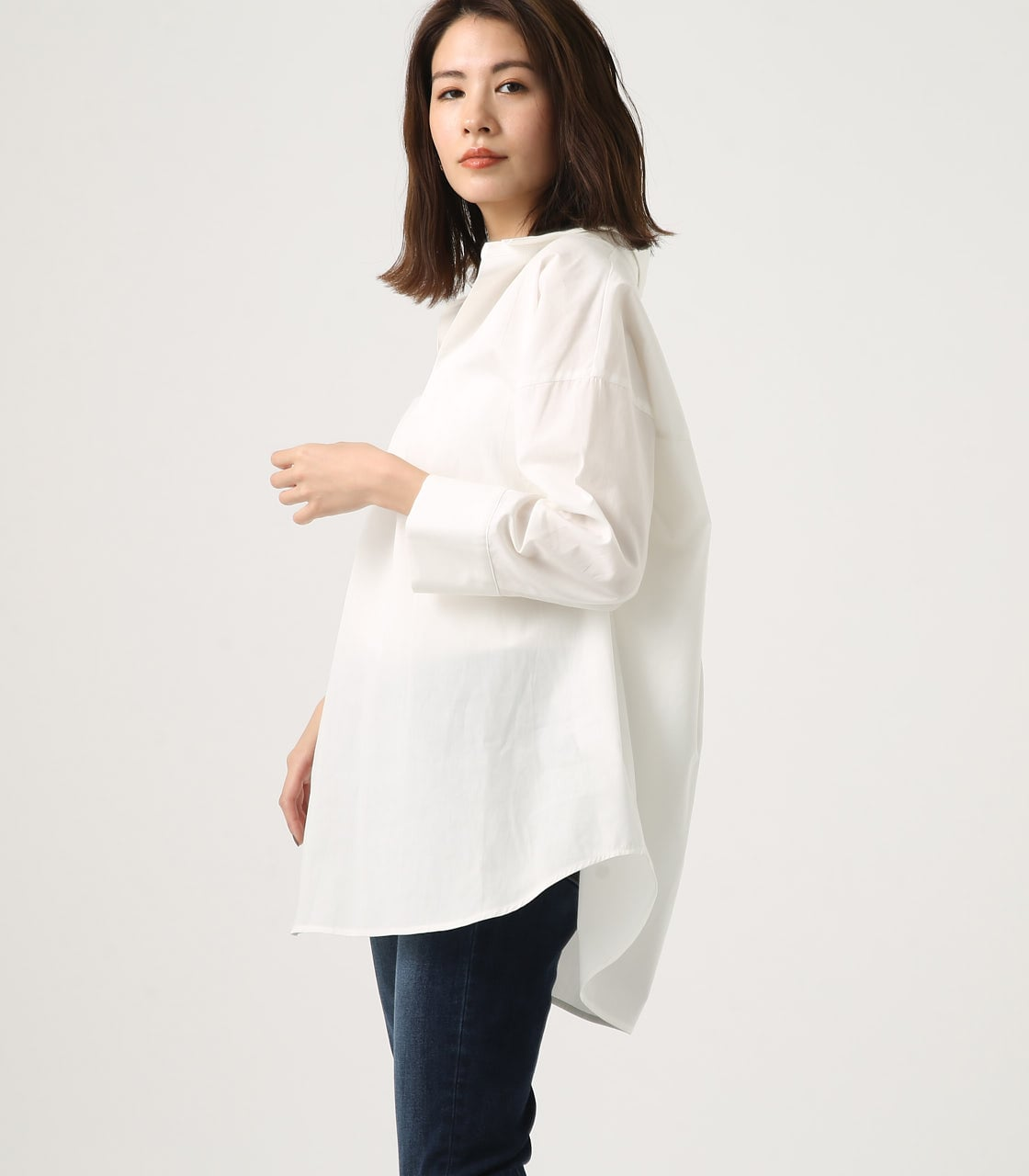 【AZUL BY MOUSSY】LOOSE SKIPPER SHIRT 詳細画像 O/WHT 2