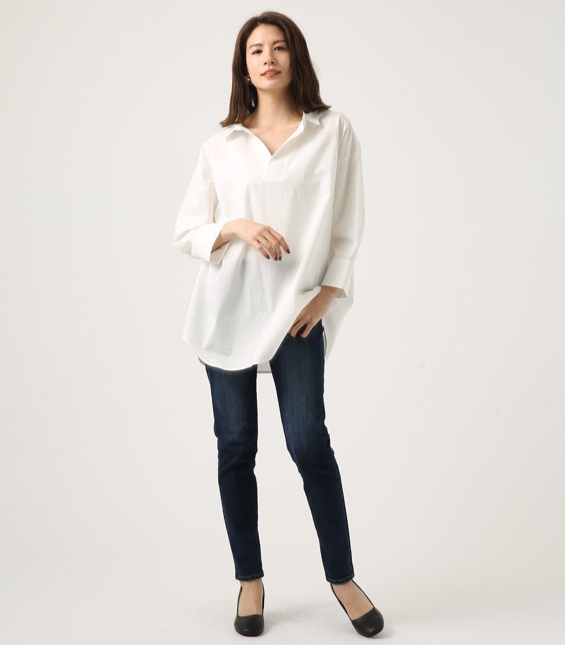 【AZUL BY MOUSSY】LOOSE SKIPPER SHIRT 詳細画像 O/WHT 3