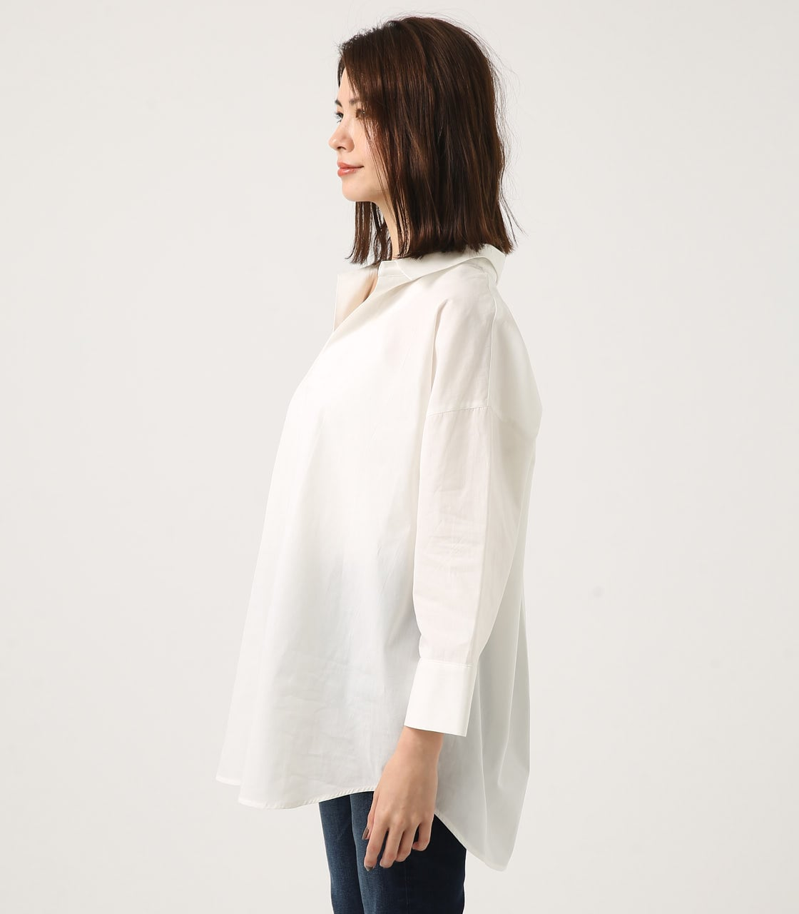【AZUL BY MOUSSY】LOOSE SKIPPER SHIRT 詳細画像 O/WHT 5