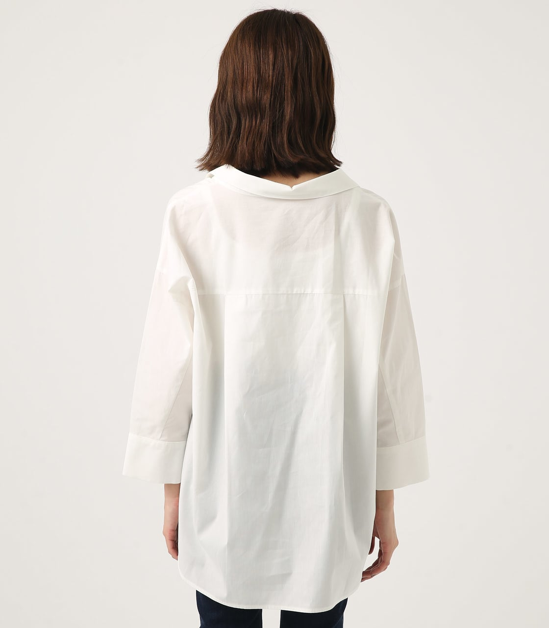 【AZUL BY MOUSSY】LOOSE SKIPPER SHIRT 詳細画像 O/WHT 6