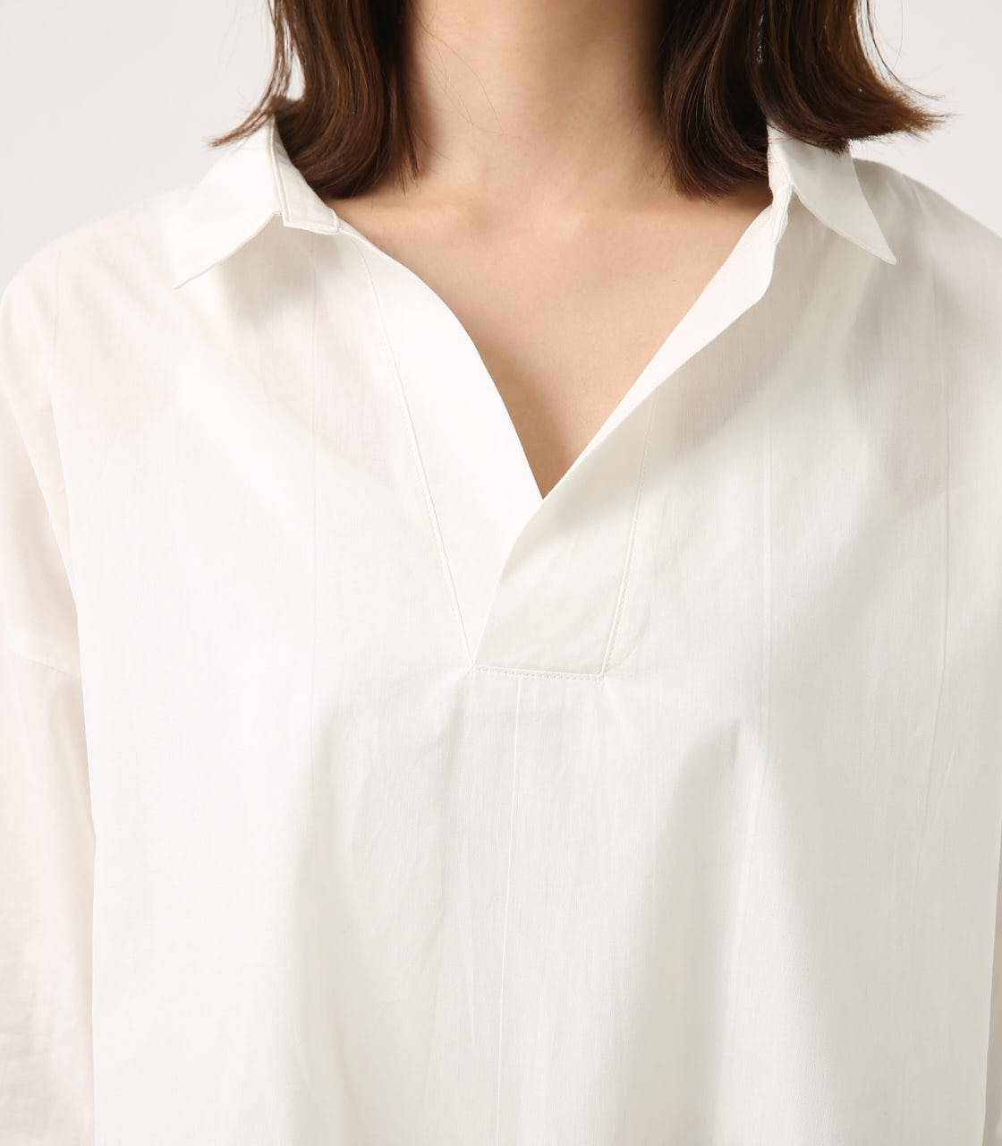 【AZUL BY MOUSSY】LOOSE SKIPPER SHIRT 詳細画像 O/WHT 7
