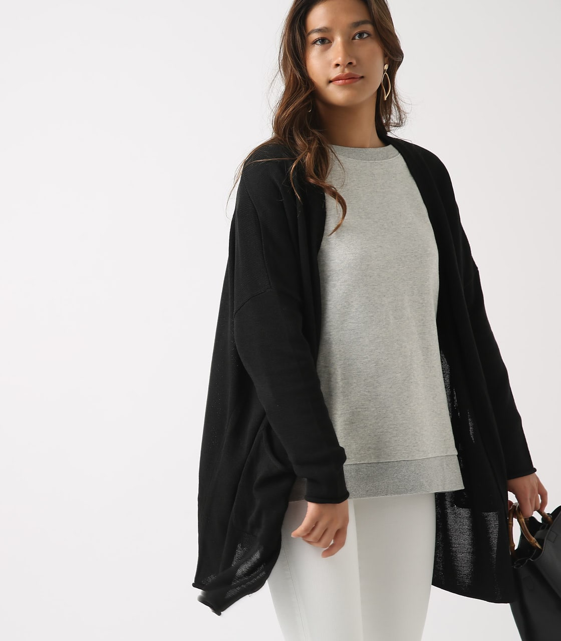 SHEER KNIT CARDIGAN 詳細画像 BLK 1