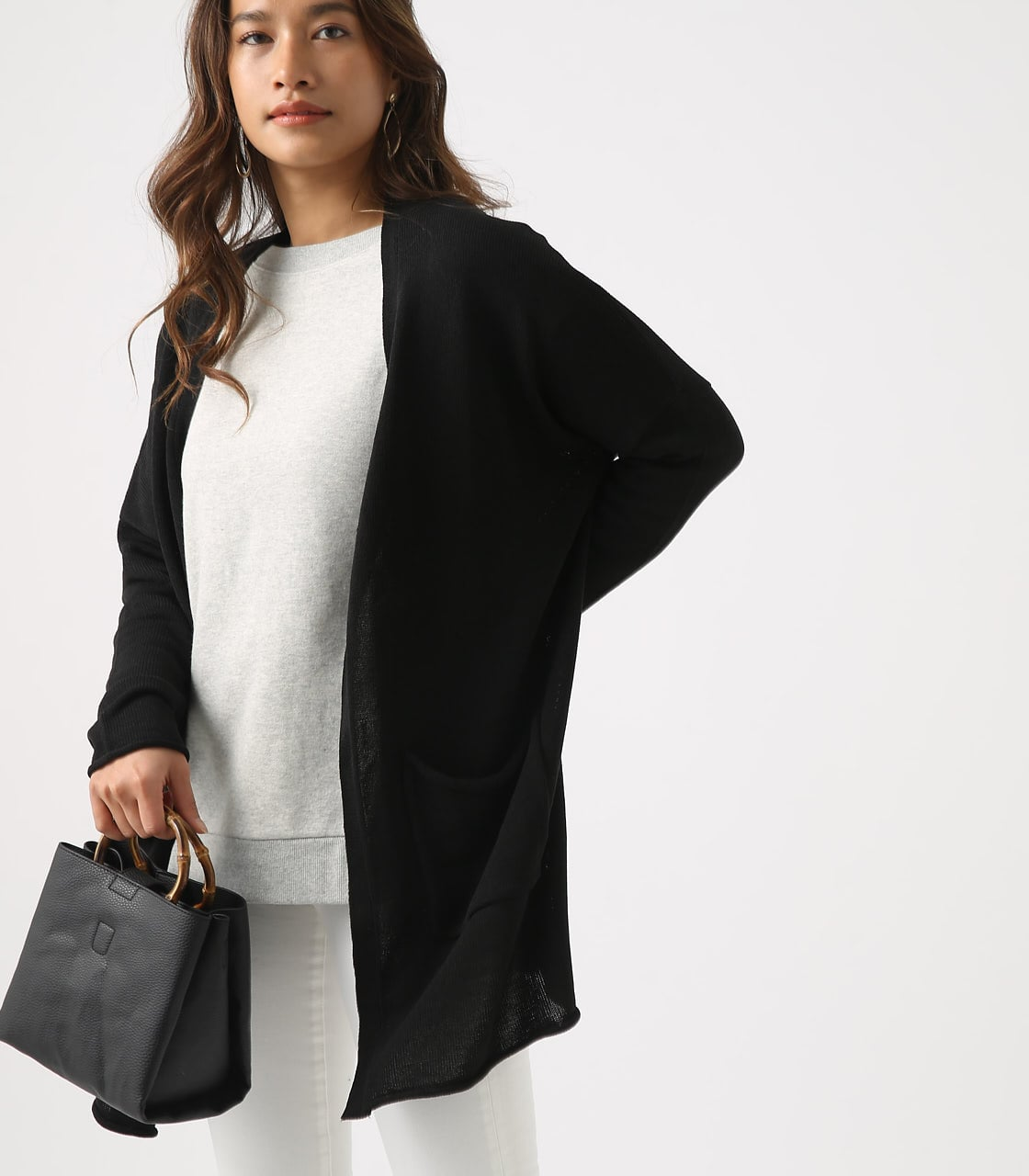 SHEER KNIT CARDIGAN 詳細画像 BLK 2