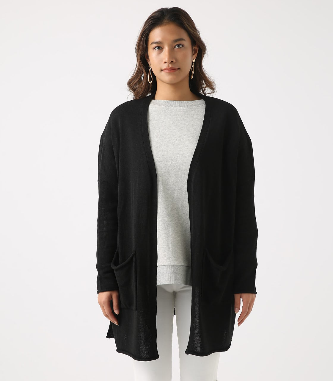 SHEER KNIT CARDIGAN 詳細画像 BLK 5