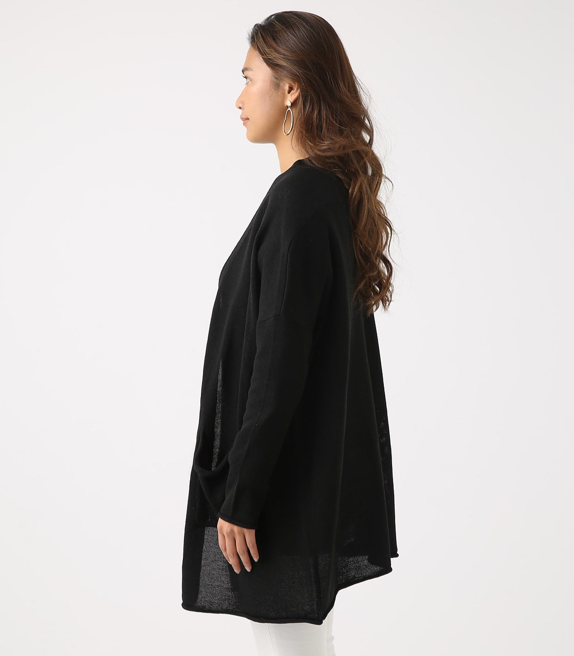 SHEER KNIT CARDIGAN 詳細画像 BLK 6
