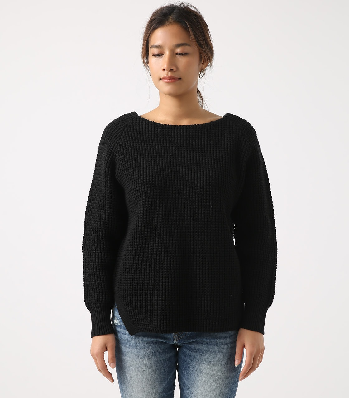 【AZUL BY MOUSSY】WAFFLE KNIT TUNIC 詳細画像 BLK 5