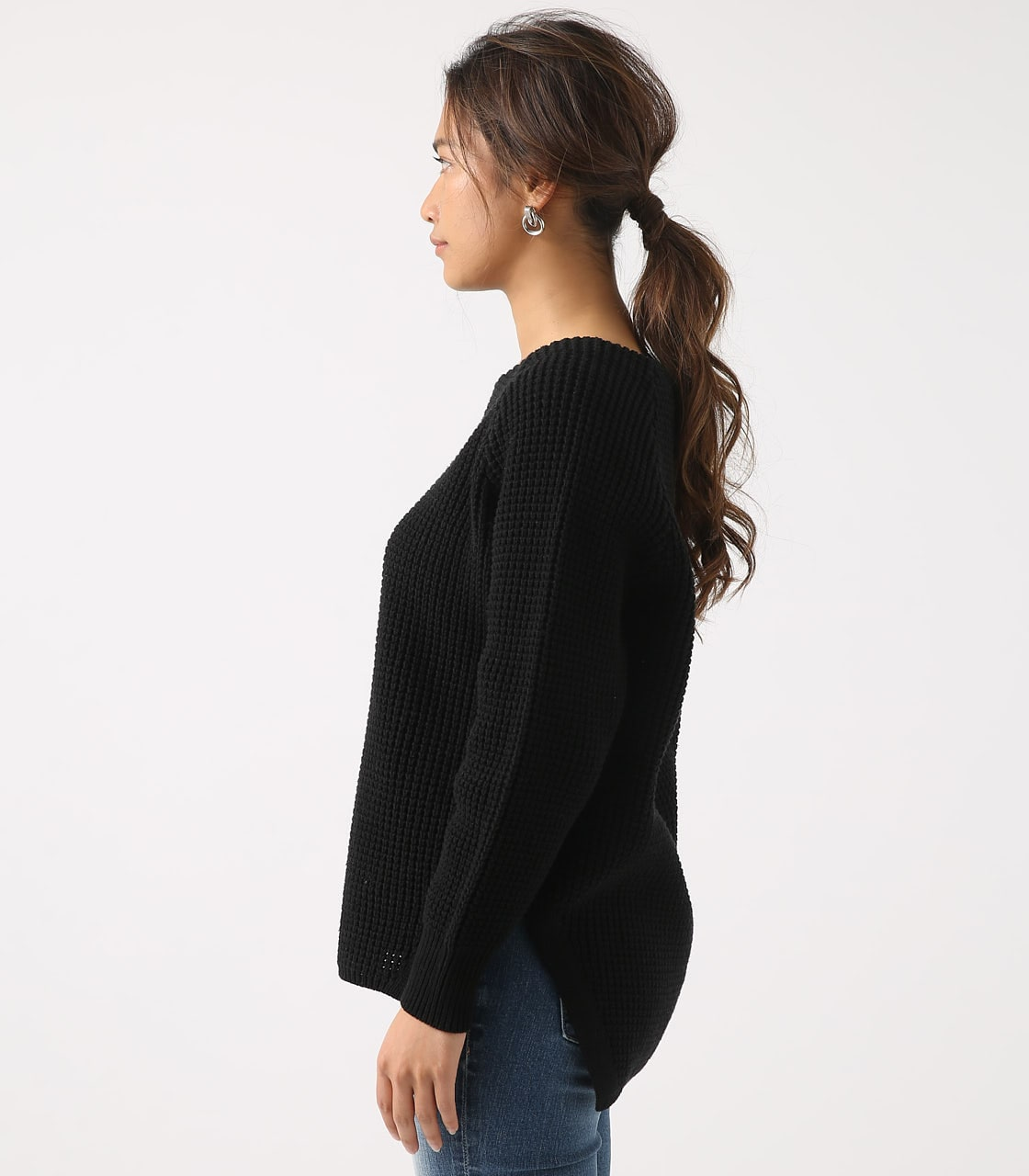 【AZUL BY MOUSSY】WAFFLE KNIT TUNIC 詳細画像 BLK 6