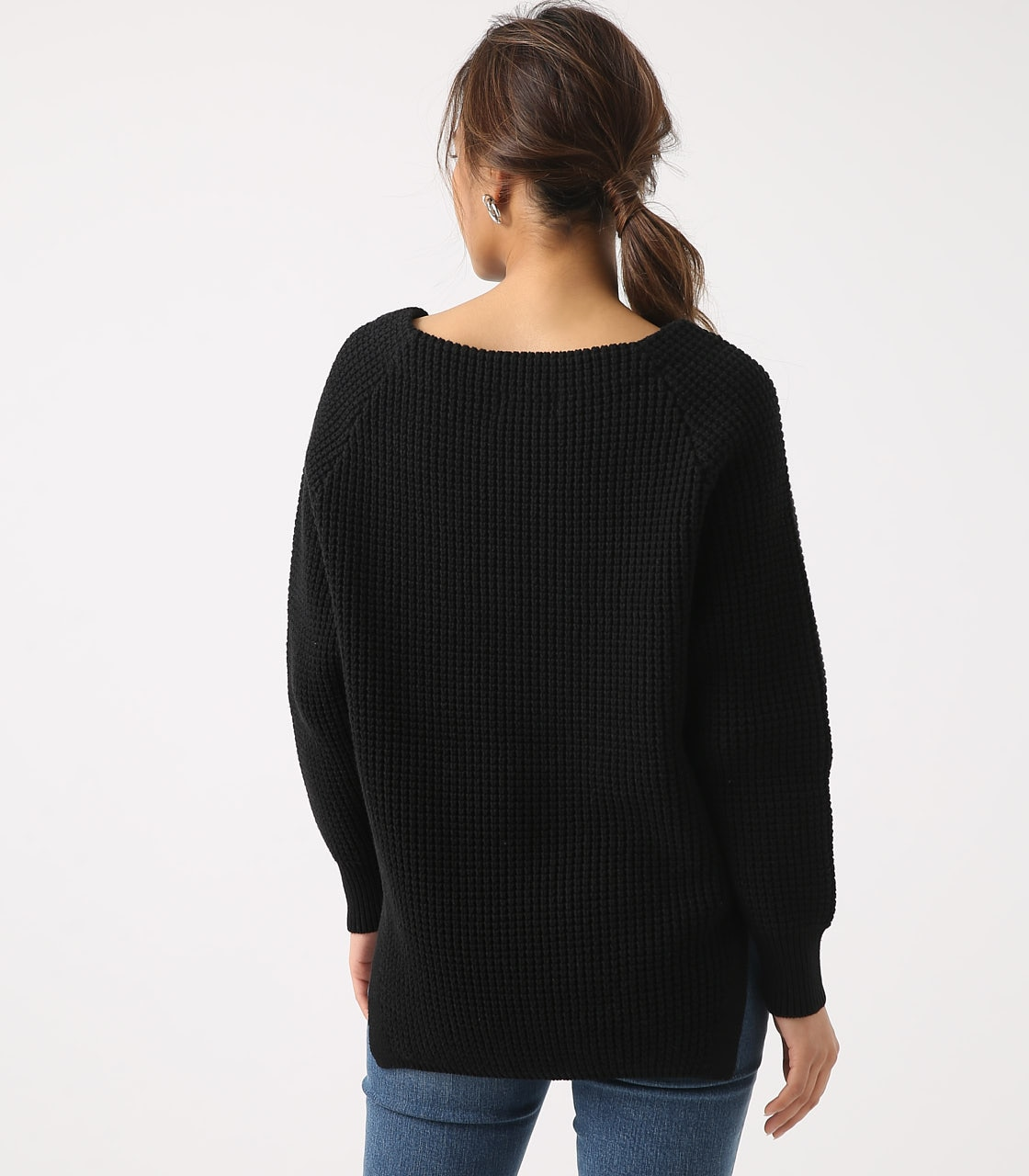 【AZUL BY MOUSSY】WAFFLE KNIT TUNIC 詳細画像 BLK 7
