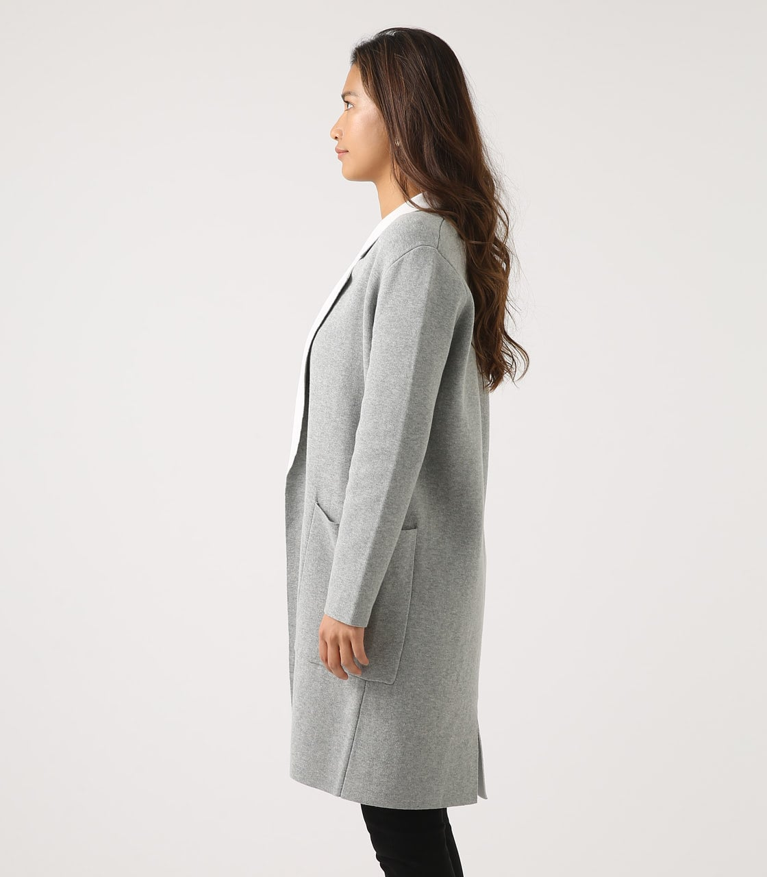 【AZUL BY MOUSSY】COCOON KNIT COAT 詳細画像 T.GRY 6