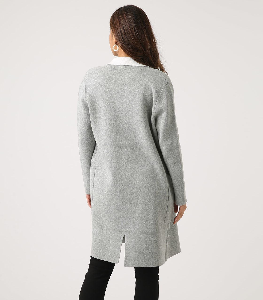 【AZUL BY MOUSSY】COCOON KNIT COAT 詳細画像 T.GRY 7