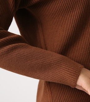 【AZUL BY MOUSSY】SIDE SLOT LONG KNIT PULLOVER 詳細画像
