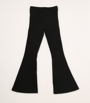 【AZUL BY MOUSSY】RIB KNIT FLARE PANTS 詳細画像