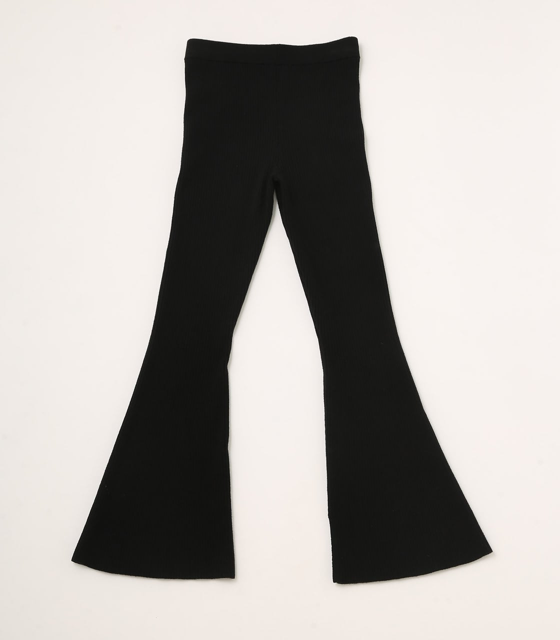 【AZUL BY MOUSSY】RIB KNIT FLARE PANTS 詳細画像 BLK 6