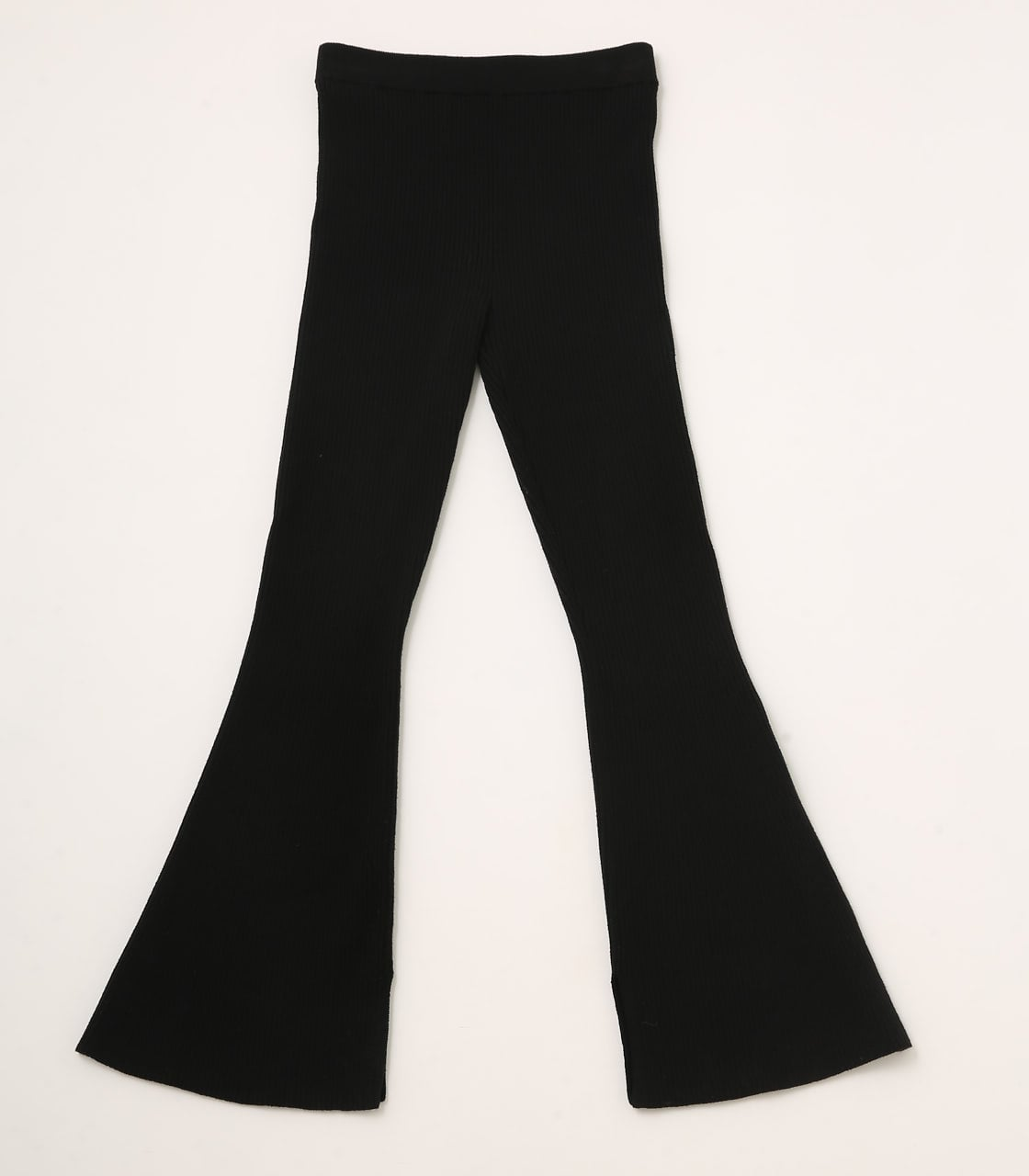【AZUL BY MOUSSY】RIB KNIT FLARE PANTS 詳細画像 BLK 8