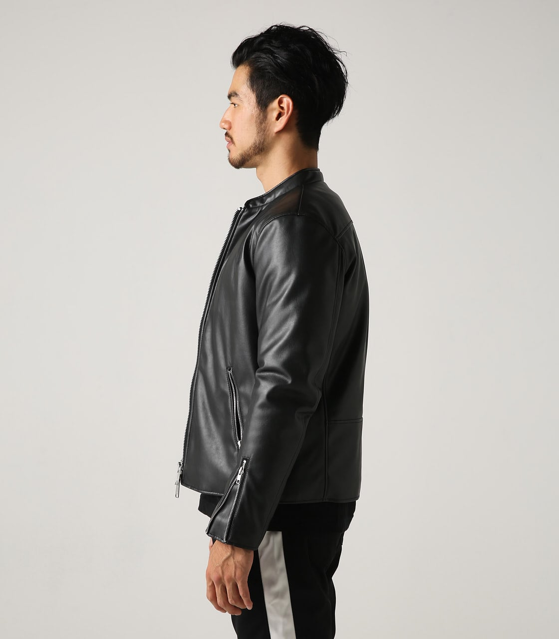 【AZUL BY MOUSSY】合皮中綿シングルライダース【MOOK48掲載】 詳細画像 BLK 6