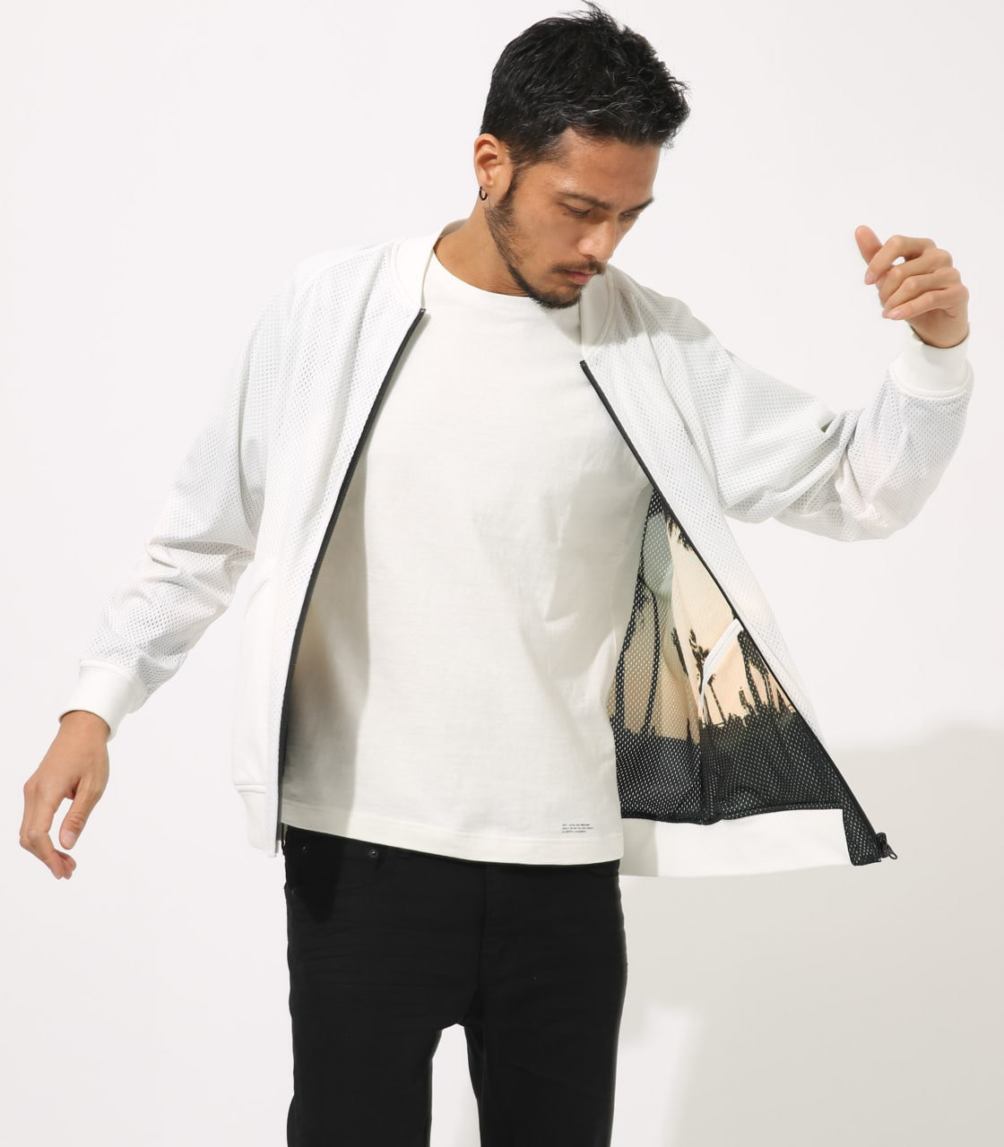 【AZUL BY MOUSSY】REVERSIBLE MESH BLOUSON 詳細画像 WHT 3