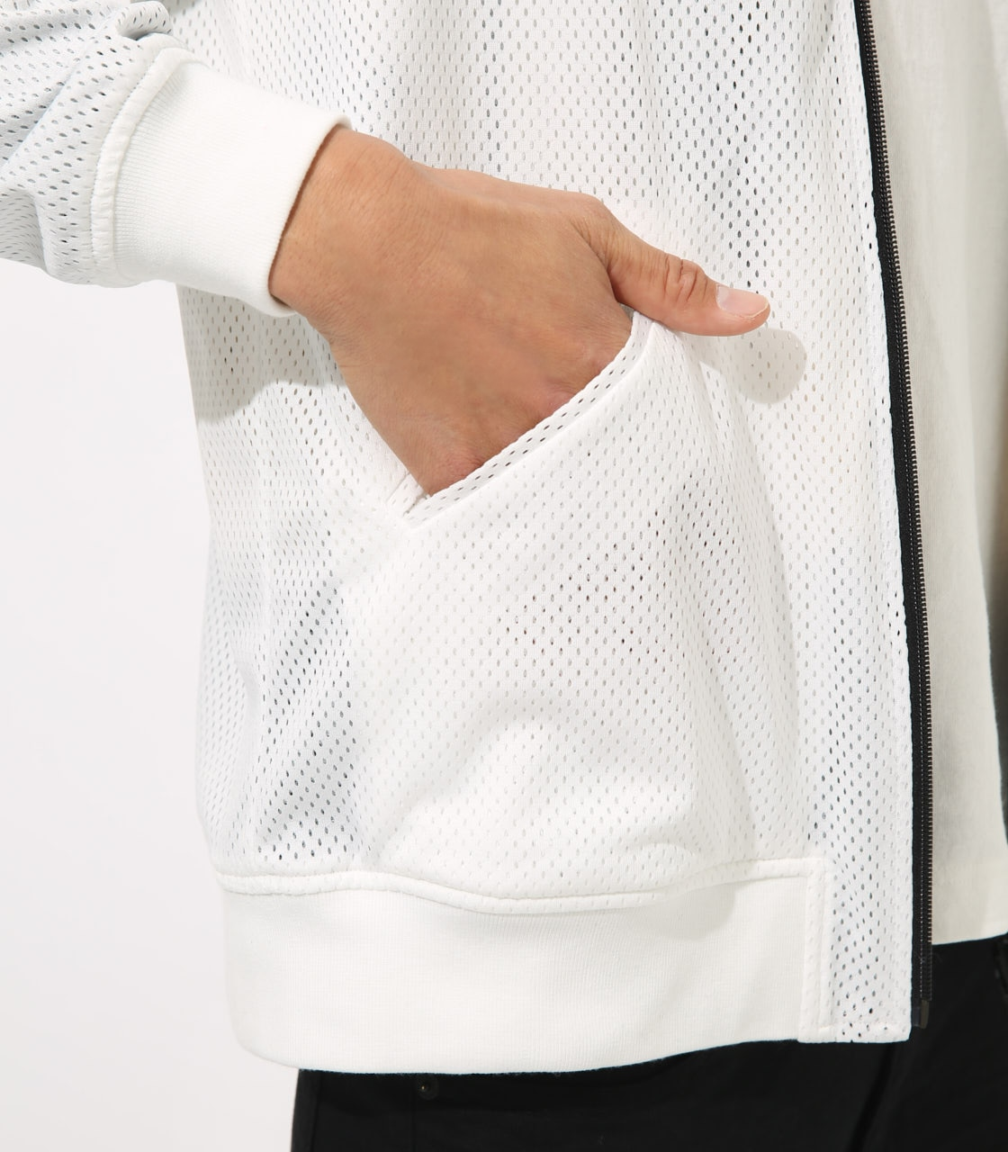 【AZUL BY MOUSSY】REVERSIBLE MESH BLOUSON 詳細画像 WHT 9