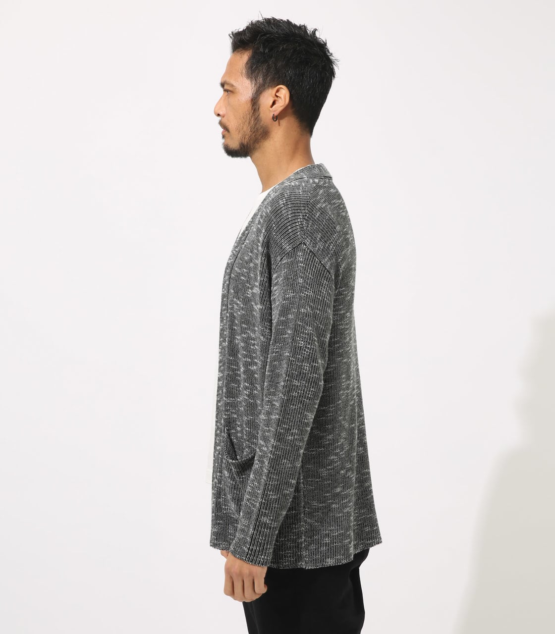 【AZUL BY MOUSSY】RIB STITCH CARDIGAN 詳細画像 柄BLK 6