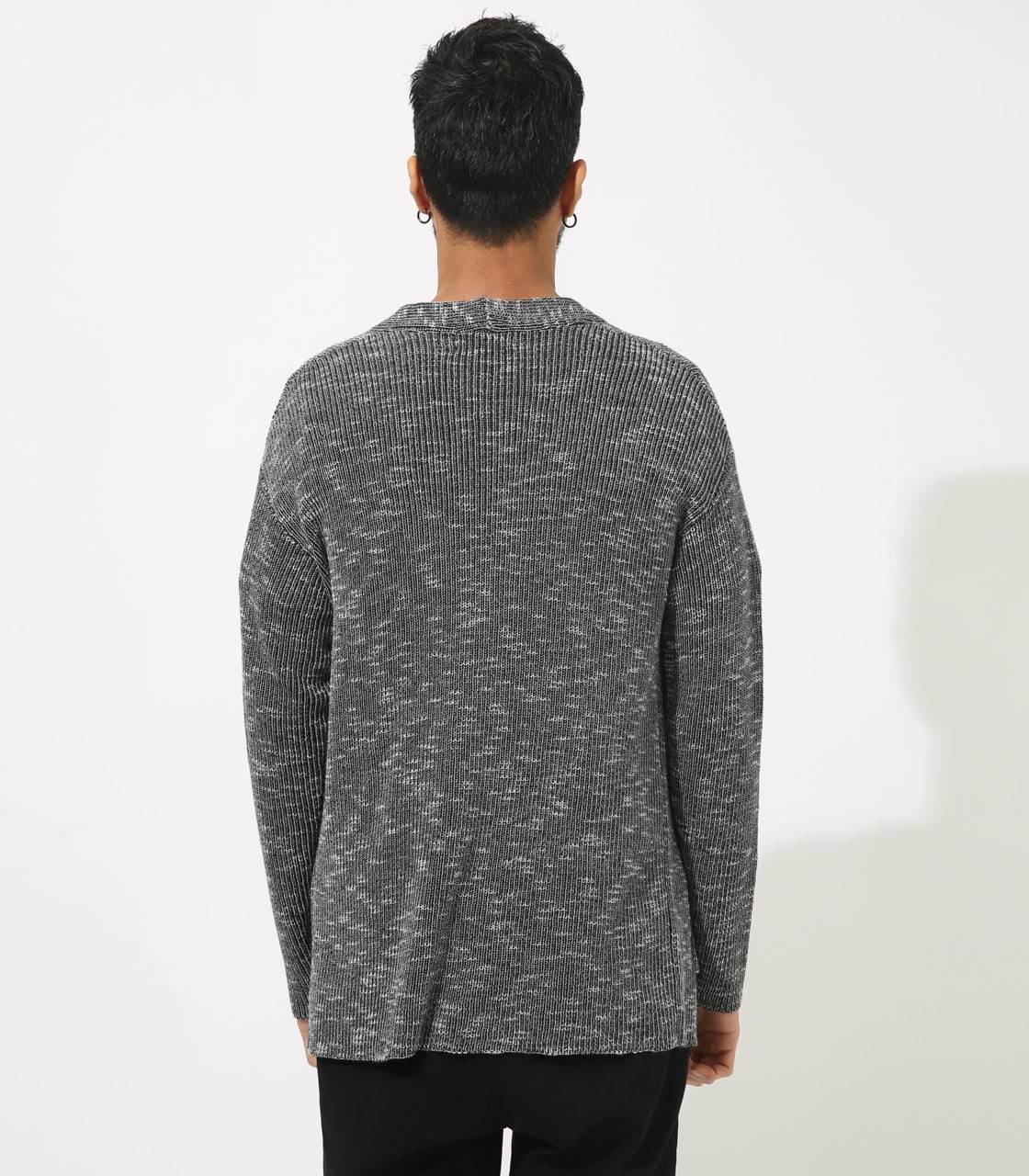【AZUL BY MOUSSY】RIB STITCH CARDIGAN 詳細画像 柄BLK 7