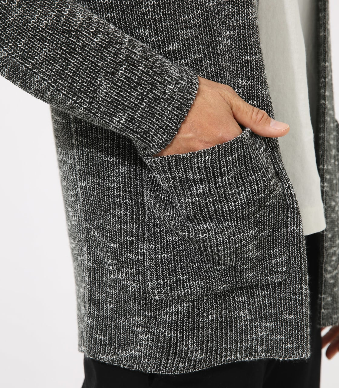 【AZUL BY MOUSSY】RIB STITCH CARDIGAN 詳細画像 柄BLK 9