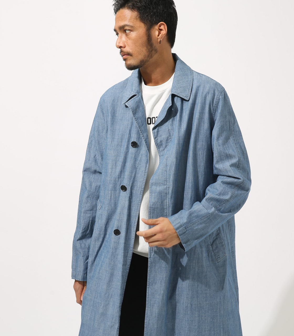 【AZUL BY MOUSSY】SOUTIEN COLLAR LONG COAT 詳細画像 BLU 4
