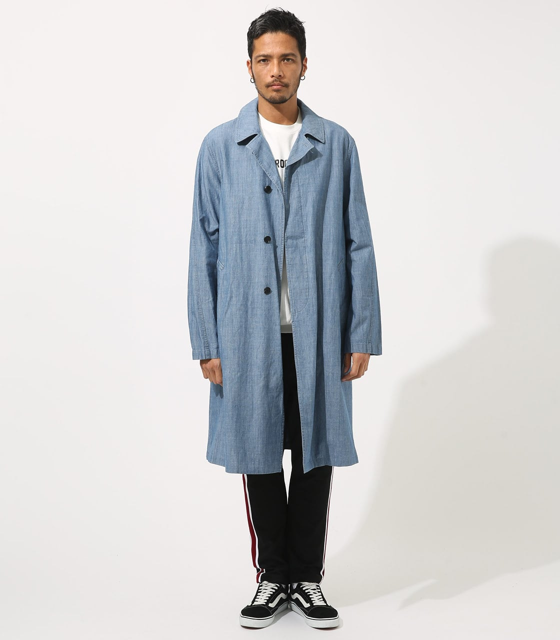 【AZUL BY MOUSSY】SOUTIEN COLLAR LONG COAT 詳細画像 BLU 5
