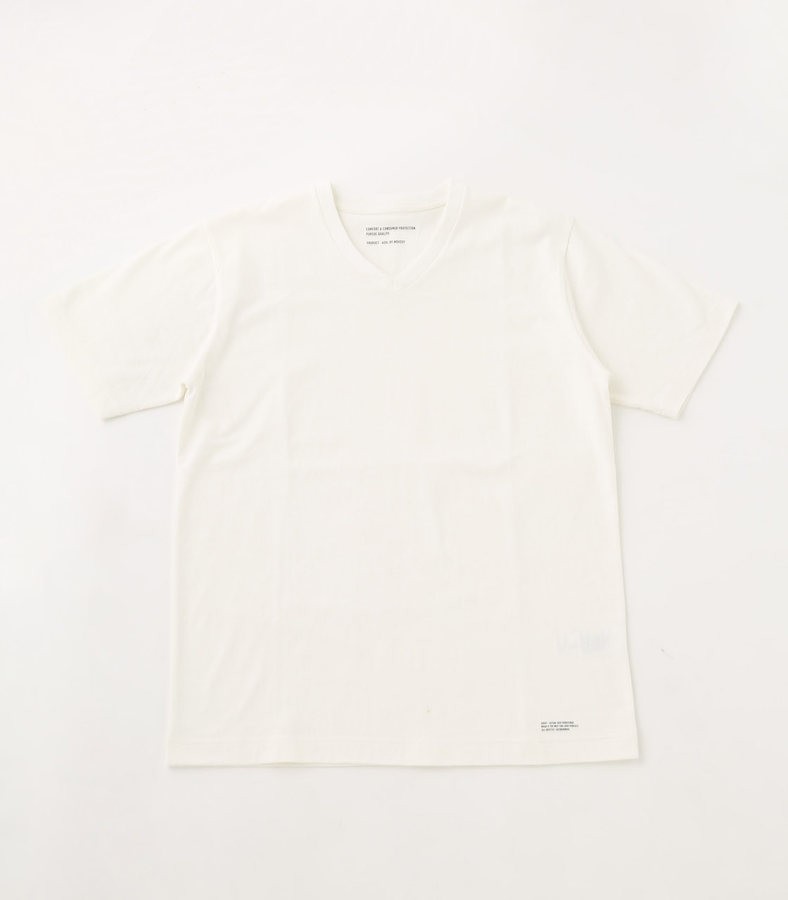 【AZUL BY MOUSSY】HEAVY WEIGHT Vネック T-SHIRT 詳細画像 WHT 1