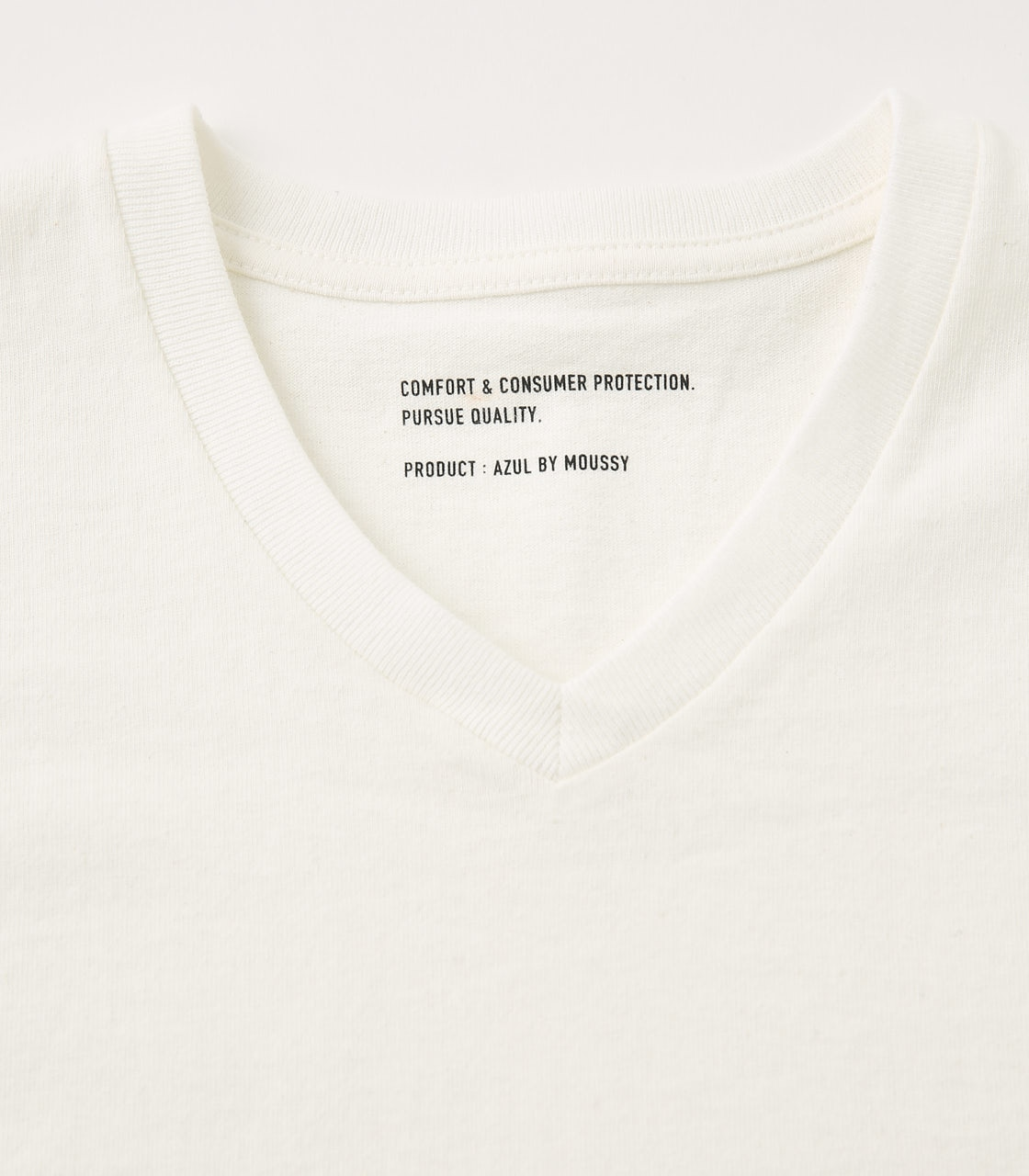 【AZUL BY MOUSSY】HEAVY WEIGHT Vネック T-SHIRT 詳細画像 WHT 3