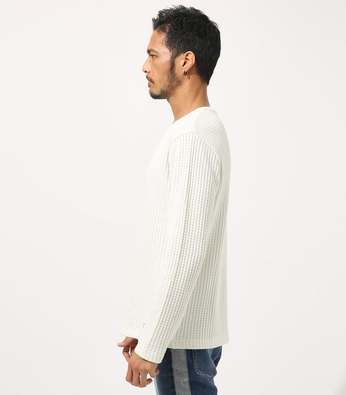 【AZUL BY MOUSSY】BIG WAFFLE LONG SLEEVE 詳細画像 WHT 6