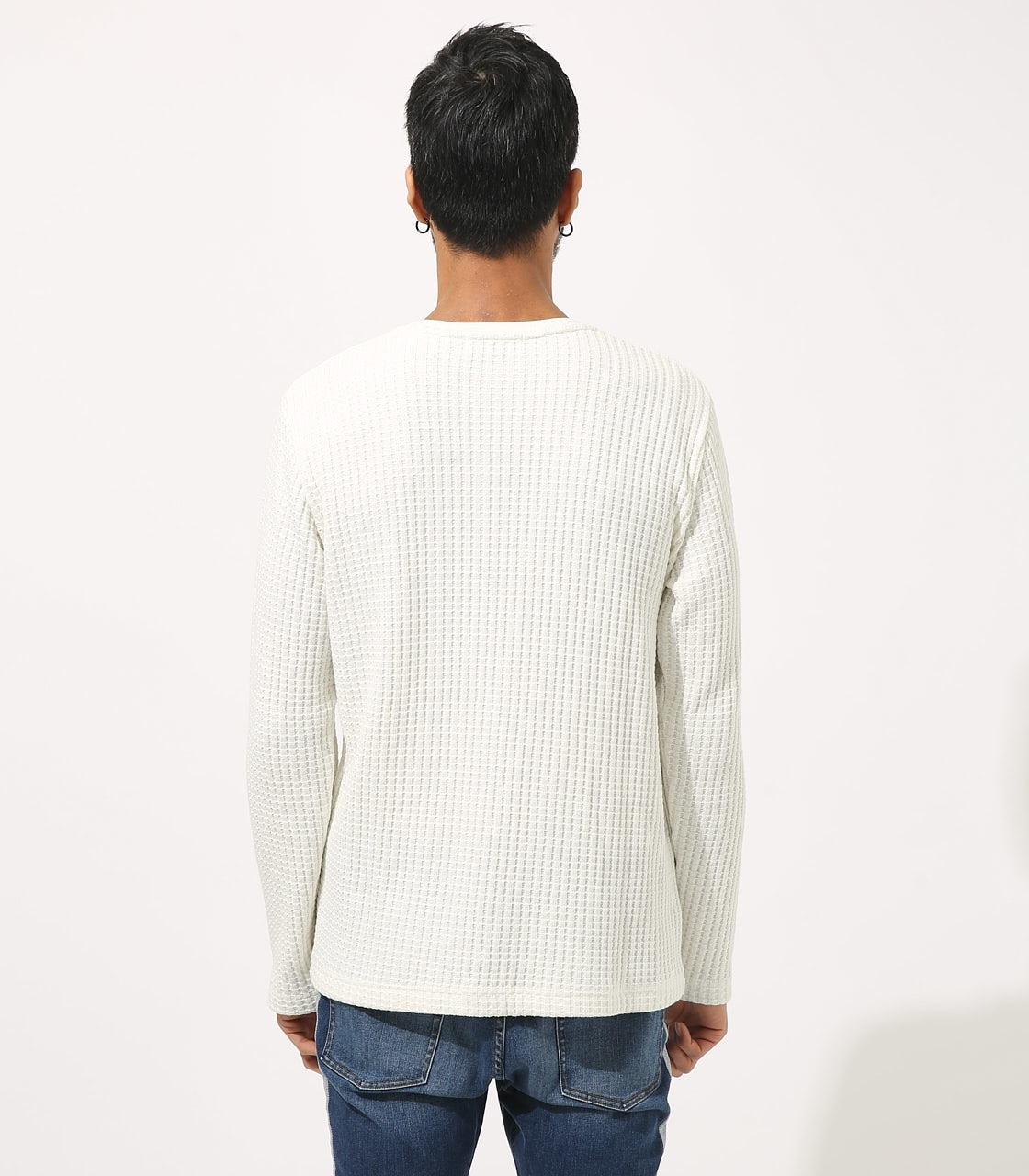 【AZUL BY MOUSSY】BIG WAFFLE LONG SLEEVE 詳細画像 WHT 7
