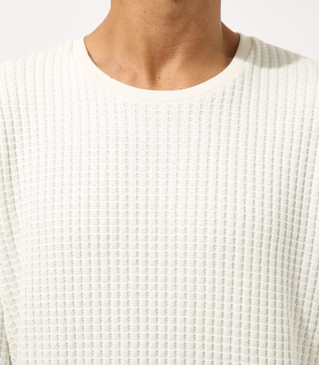 【AZUL BY MOUSSY】BIG WAFFLE LONG SLEEVE 詳細画像 WHT 8
