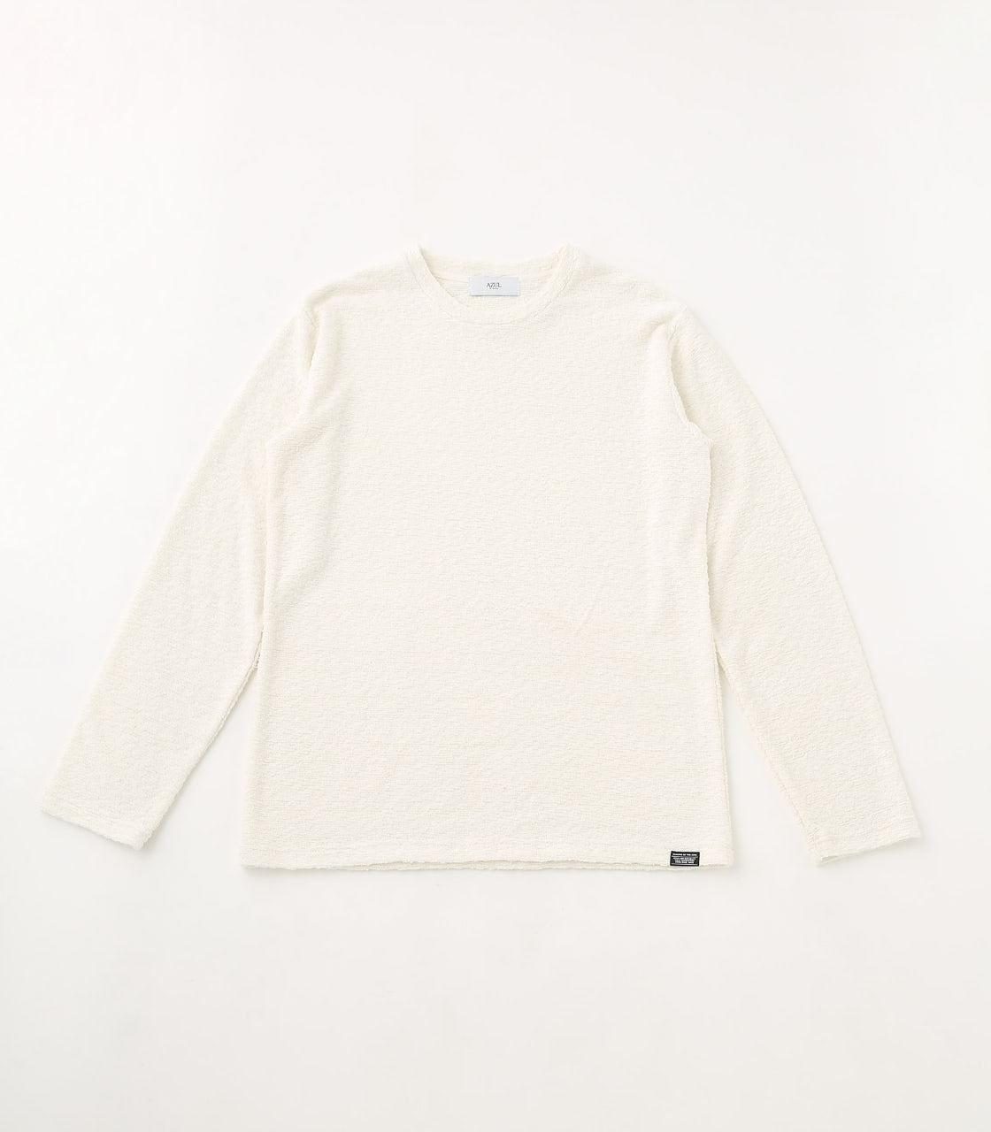 【AZUL BY MOUSSY】BIG PILE LONG SLEEVE 詳細画像 WHT 1