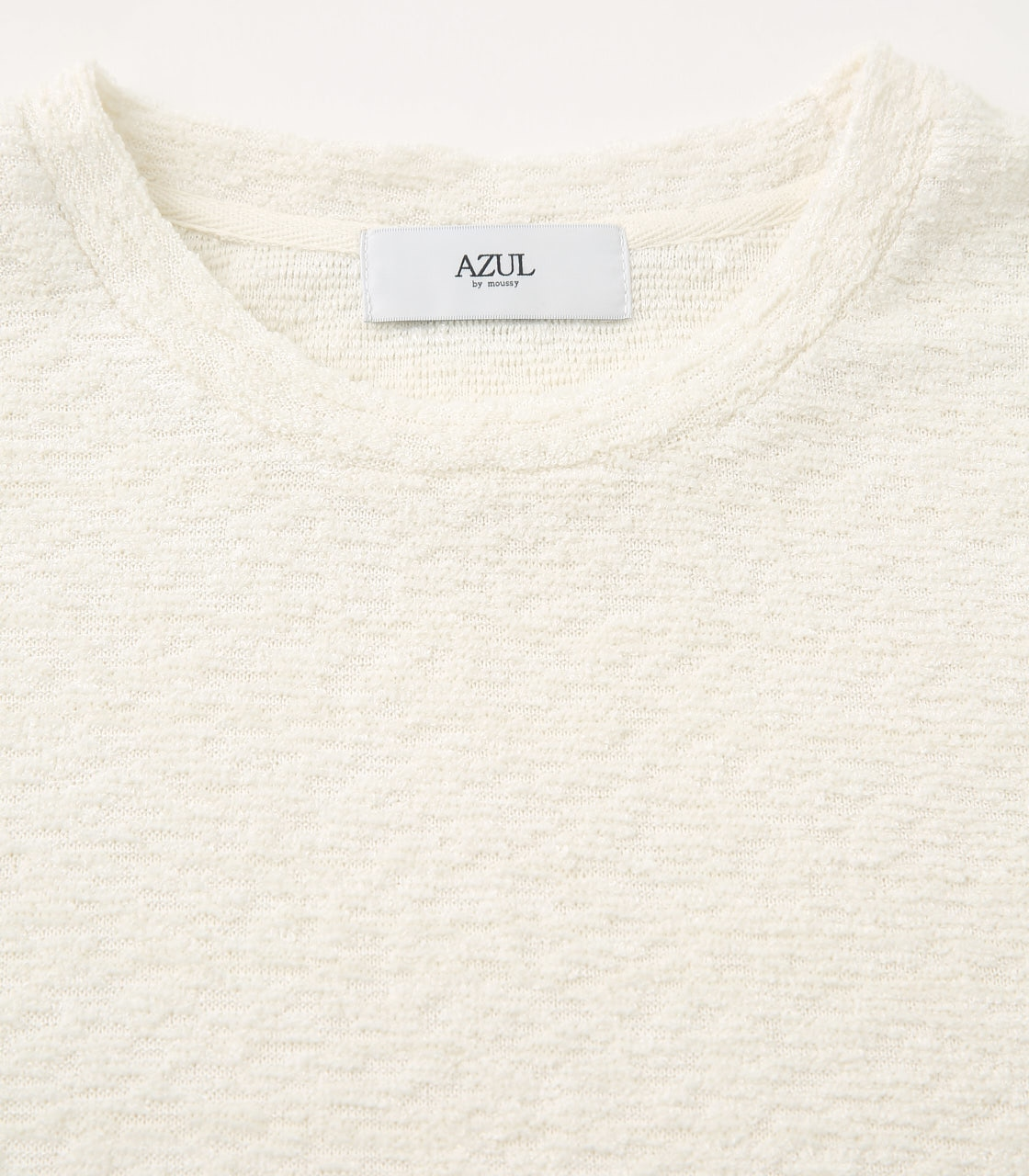 【AZUL BY MOUSSY】BIG PILE LONG SLEEVE 詳細画像 WHT 3