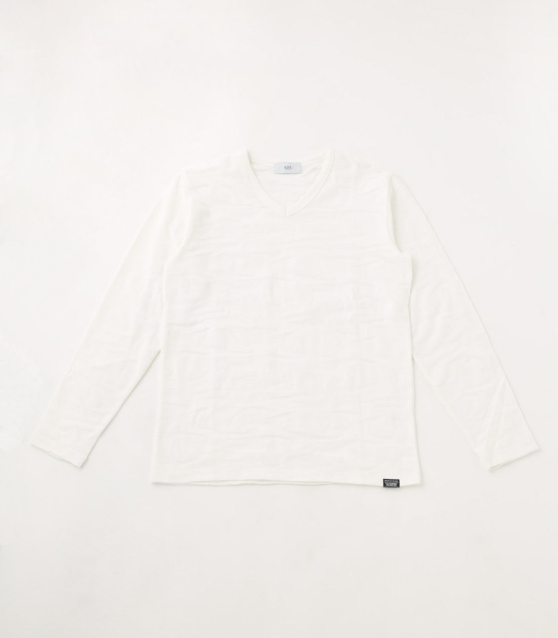【AZUL BY MOUSSY】SHADOW CAMOUFLAGE LONG SLEEVE 詳細画像 WHT 1