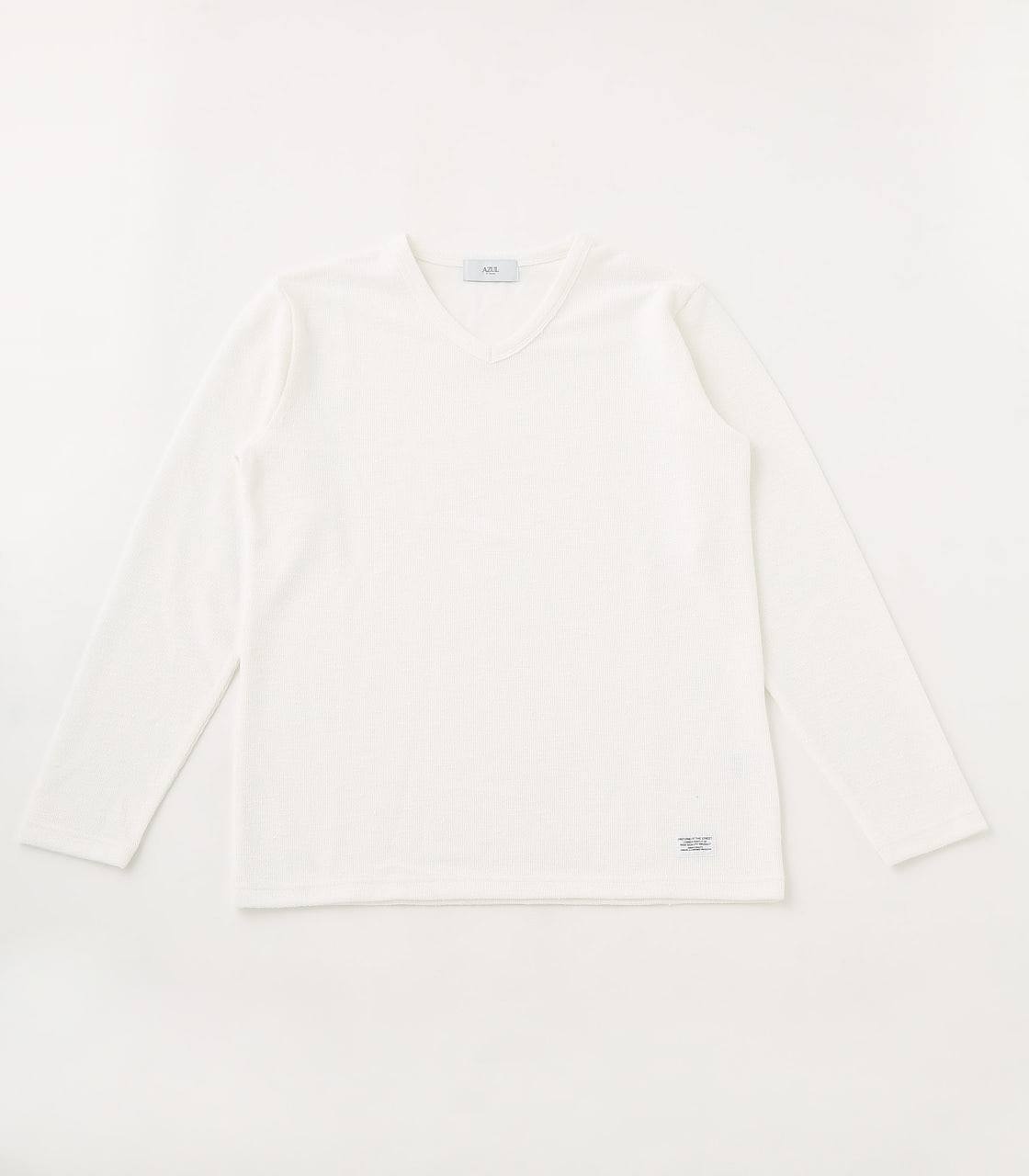 【AZUL BY MOUSSY】SLUB PILE LONG SLEEVE 詳細画像 WHT 1