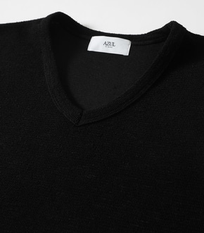 【AZUL BY MOUSSY】SLAB PILE Vネック T-SHIRTS 詳細画像