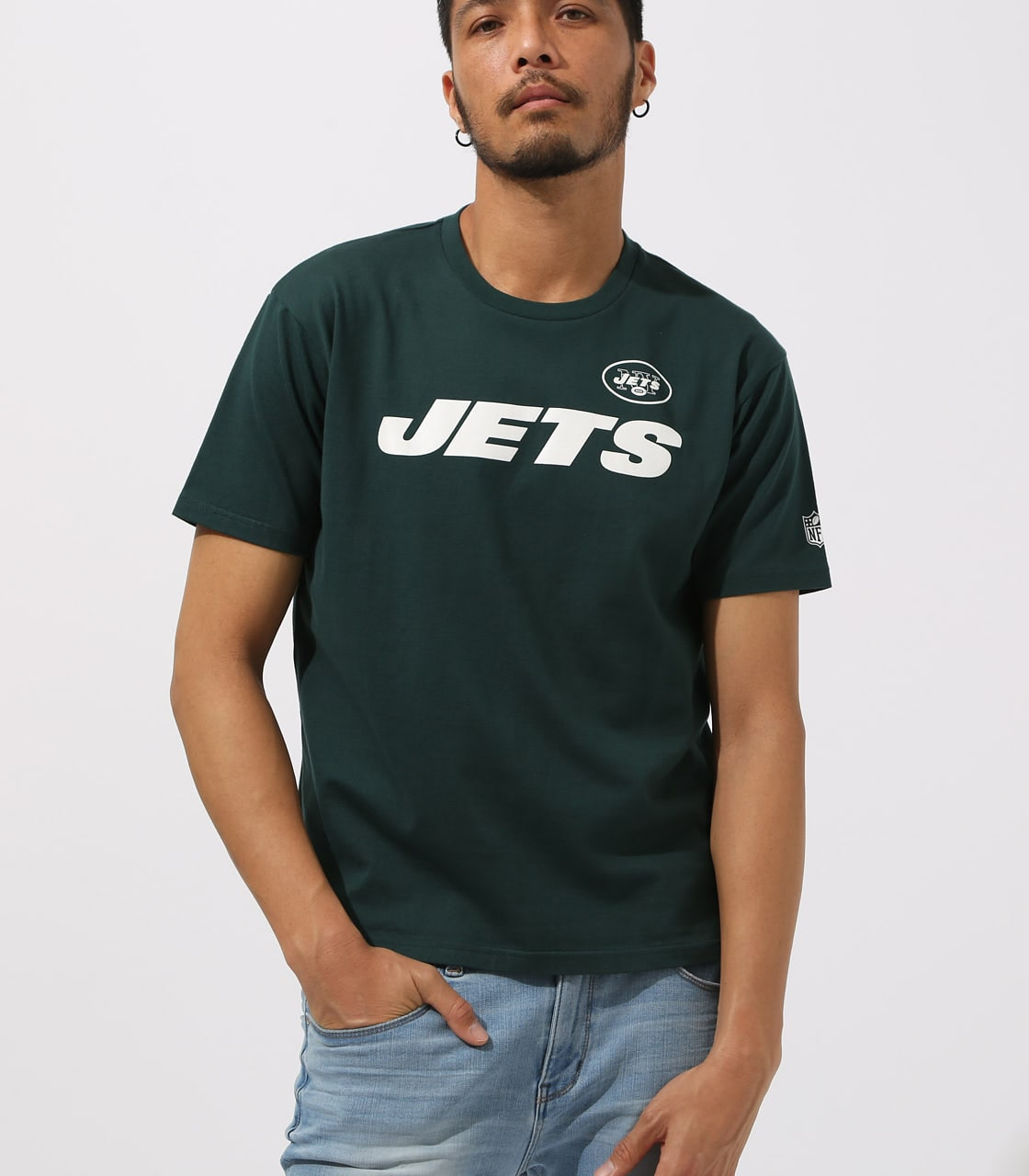 【AZUL BY MOUSSY】NFL JETS TEE 詳細画像 D/GRN 1